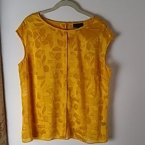Top, Sleeveless, Gold, Size L